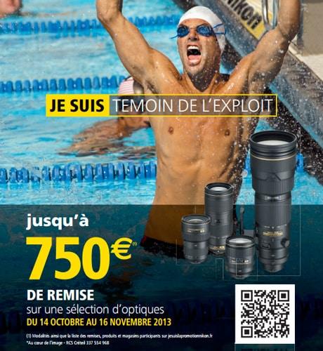 Promotions Nikon : jusqu'à 750 euros de remise sur une sélection d'optiques