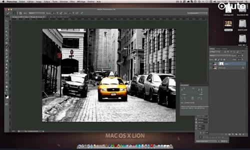 photoshop mettre photo noir blanc