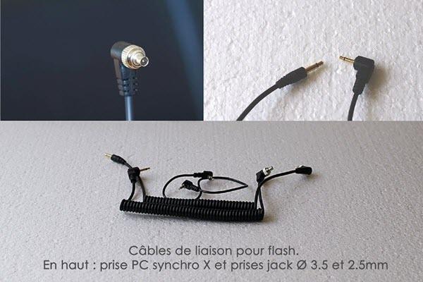 Déclenchement d'un flash déporté par câble