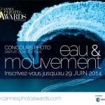 Cannes Photo Awards : 1er concours photo national sur le thème Eau & mouvement
