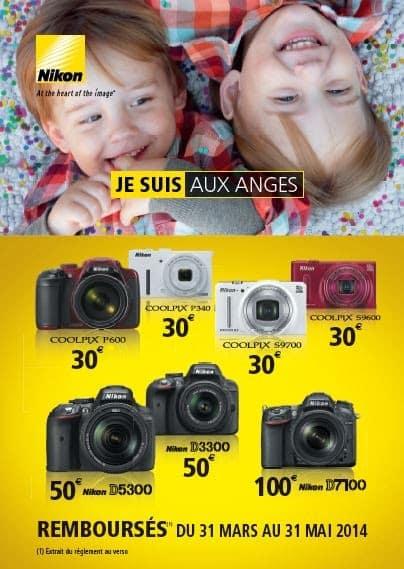 Promotions Nikon : jusqu'à 100 euros sur certains reflex et compacts