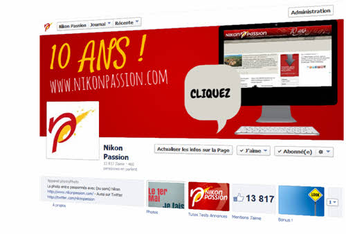 Page Facebook Nikon Passion