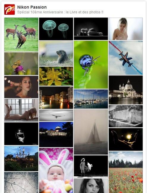 TOutes les photos déposées à l'occasion du la création du livre photo Spécial 10 ans de Nikon Passion