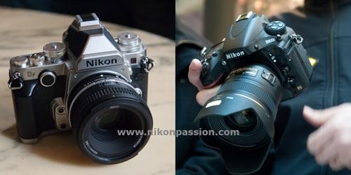 comparaison Nikon Df- Nikon D800 - Nikon D800E : lequel choisir