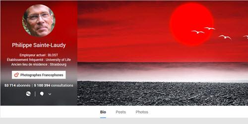 Google Plus pour les photographes : exemple de Philippe Sainte-Laudy