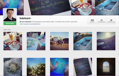 Instagram pour les photographes, exemple de Bruno Delzant