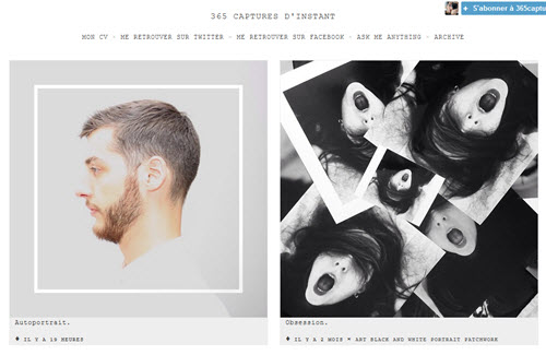 Tumblr pour les photographes, l'exemple de Guillaume Blanco