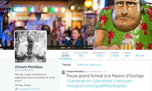 Twitter pour les photographes, exemple de Vincent Montibus