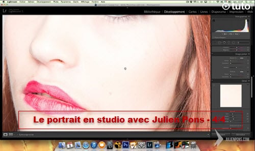 Apprendre le portrait en studio : retouche Lightroom et Photoshop - 4/4