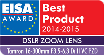 Prix EISA pour le Tamron 16-300mm f/3.5-6.3 Di II VC PZD MACRO