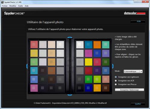 Test logiciel Datacolor SpyderCheckr