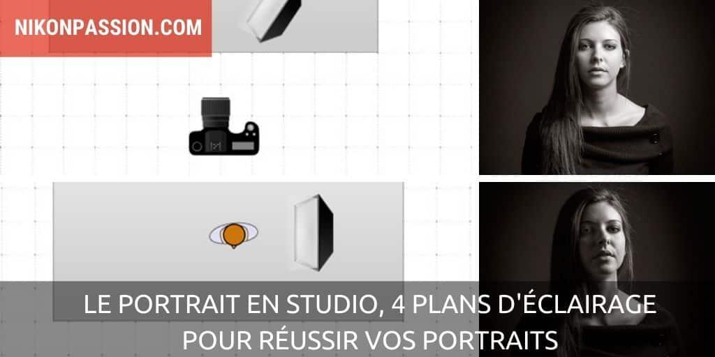 Le portrait en studio, 4 plans d'éclairage pour réussir vos portraits