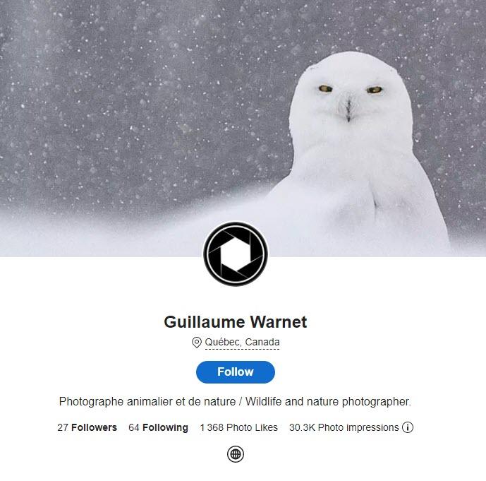 Guillaume Warnet photographe animalier