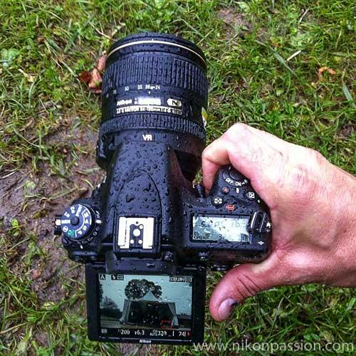 Test Nikon D750 sous la pluie ...
