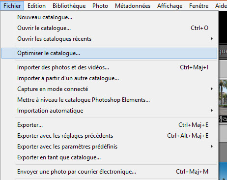 Comment optimiser un catalogue Lightroom