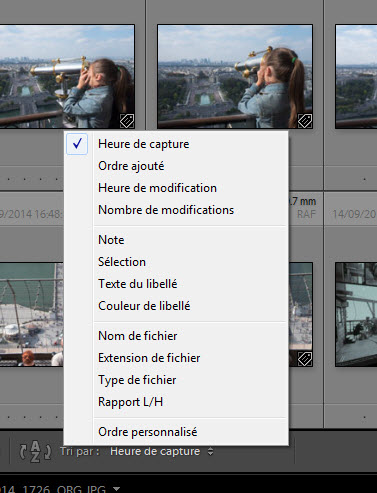 Comment trier les photos - logiciel photo