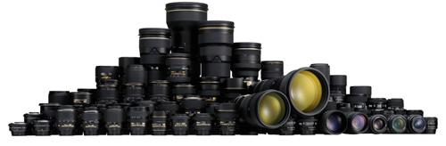 gamme d'objectifs Nikon