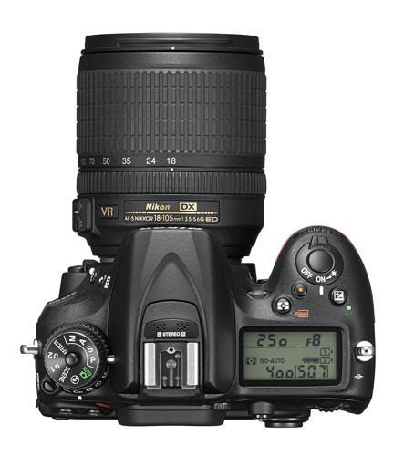 Nikon D7200 dessus molettes