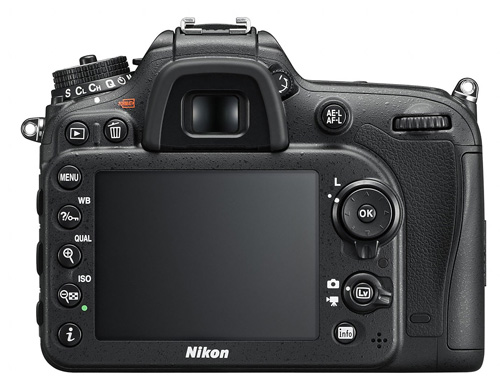 Nikon D7200 dos écran