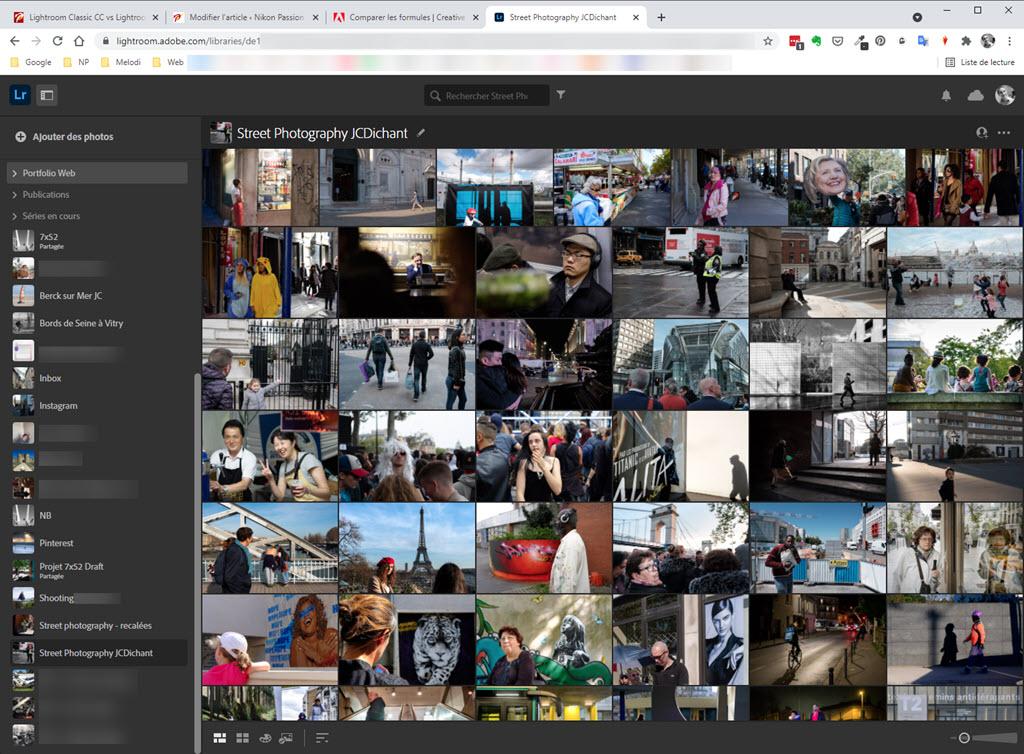 Lightroom Web, l'accès via un navigateur web