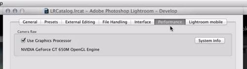 Lightroom 6 et Lightroom CC fonction GPU