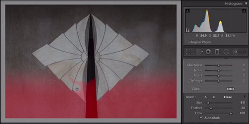 Lightroom 6 et Lightroom CC Pinceau pour filtre gradué et radial