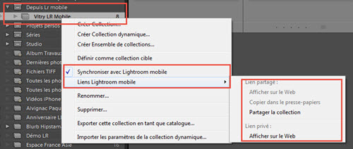 Comment synchroniser une collection Lightroom avec Lightroom Mobile - Lightroom 6 vs. Lightroom Classic CC