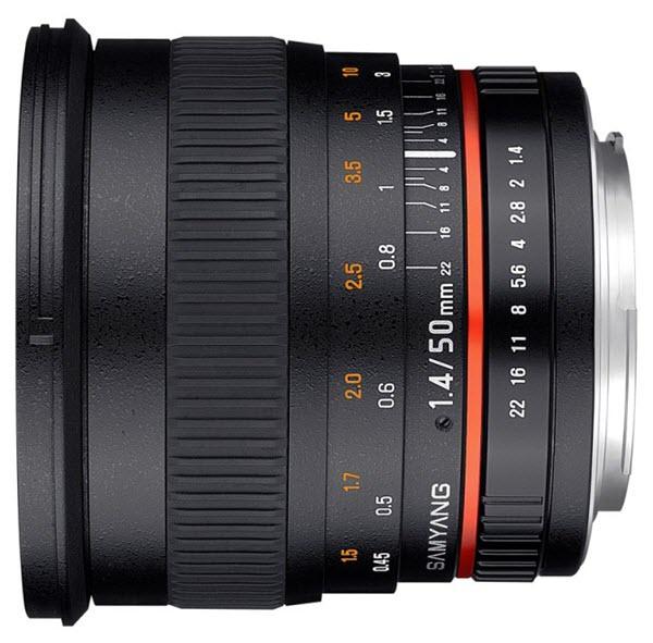 SAMYANG 50 mm f/1.4 AS UMC monture NIKON AE