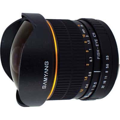 SAMYANG fisheye AE 8 mm f/3.5 CS II