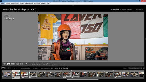 Comment redimensionner une photo avec Lightroom