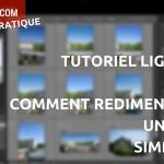 Comment redimensionner une photo avec Lightroom