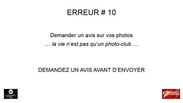 10 erreurs à ne pas commettre pour soumettre vos photos à publier