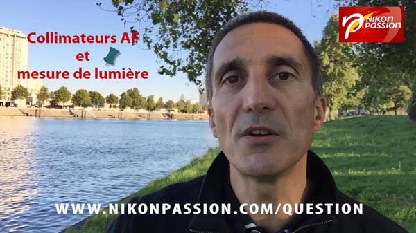 collimateurs AF et mesure de lumière Nikon