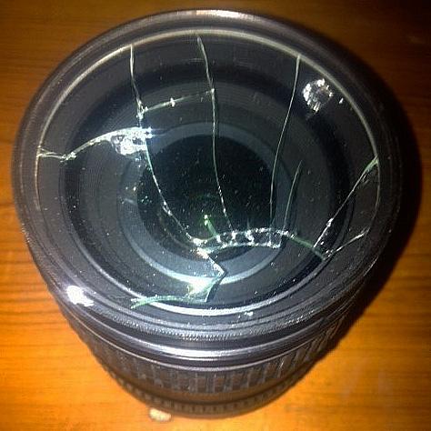 Exemple de filtre UV cassé