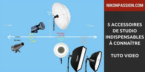 5 accessoires indispensables pour maîtriser l'éclairage de studio