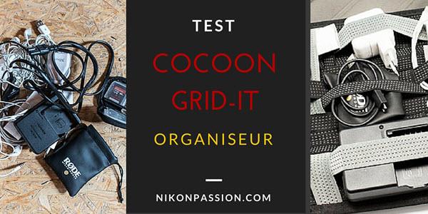 Test de l'organiseur Cocoon Grid-it pour accessoires photo