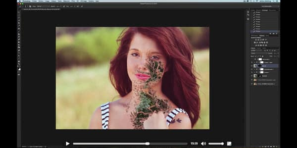 Tutoriel Photoshop portrait créatif : superposition de photos