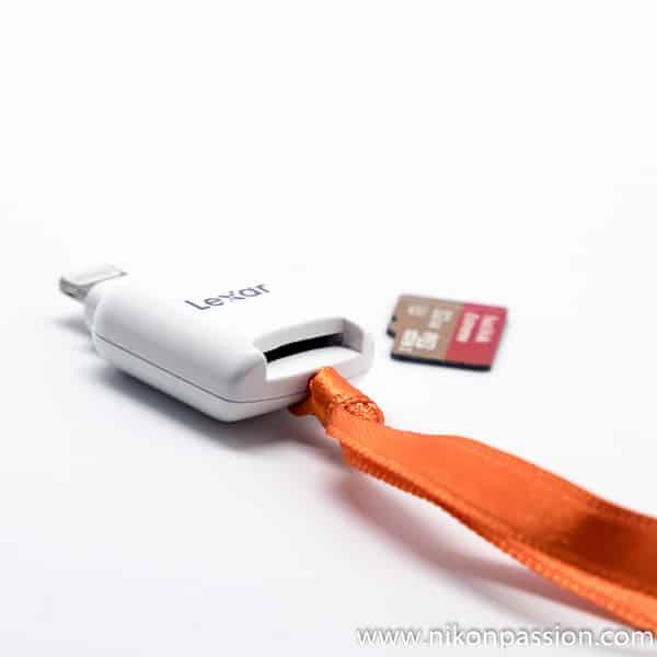Lecteur de carte microSD pour iPhone et iPad