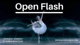 Technique Open Flash : exemple de prise de vue en pose longue