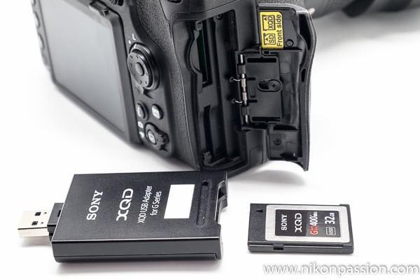 Test Nikon D500 carte XQD