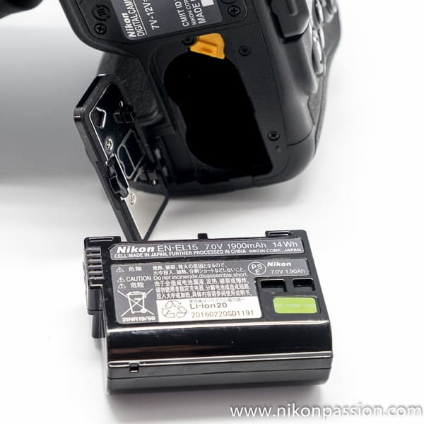 Test Nikon D500 batterie EN-EL15 autonomi
