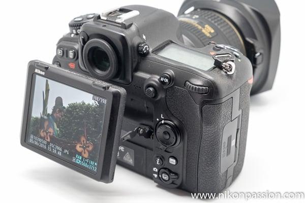Test Nikon D500 écran inclinable