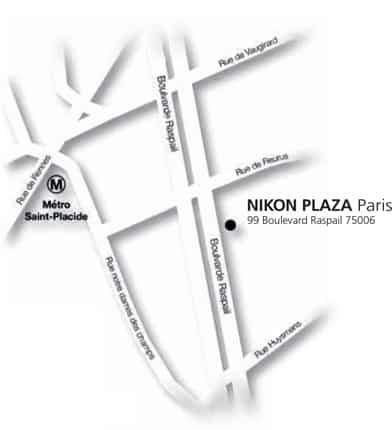 Nikon Plaza Paris plan d'accès comment s'y rendre
