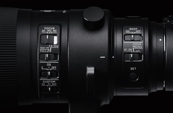 Sigma 500mm f/4 DG OS HSM, stabilisation et réactivité