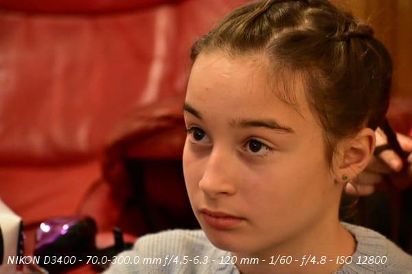 Test Nikon D3400 : photo à 12.800 ISO