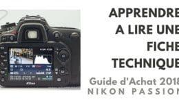 guide d'achat photo - comprendre les fiches techniques
