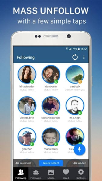 Application Cleaner pour Instagram