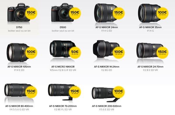 Remises Nikon : jusqu'à 150 euros grâce aux reprises d'anciens matériels photo toutes marques