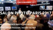 Programme des conférences au Salon de la Photo sur le stand Agora du Net / Nikon Passion