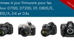 9 mises à jour firmware pour les reflex Nikon APS-C et Plein Format, objectifs AF-P en vue et corrections de bugs